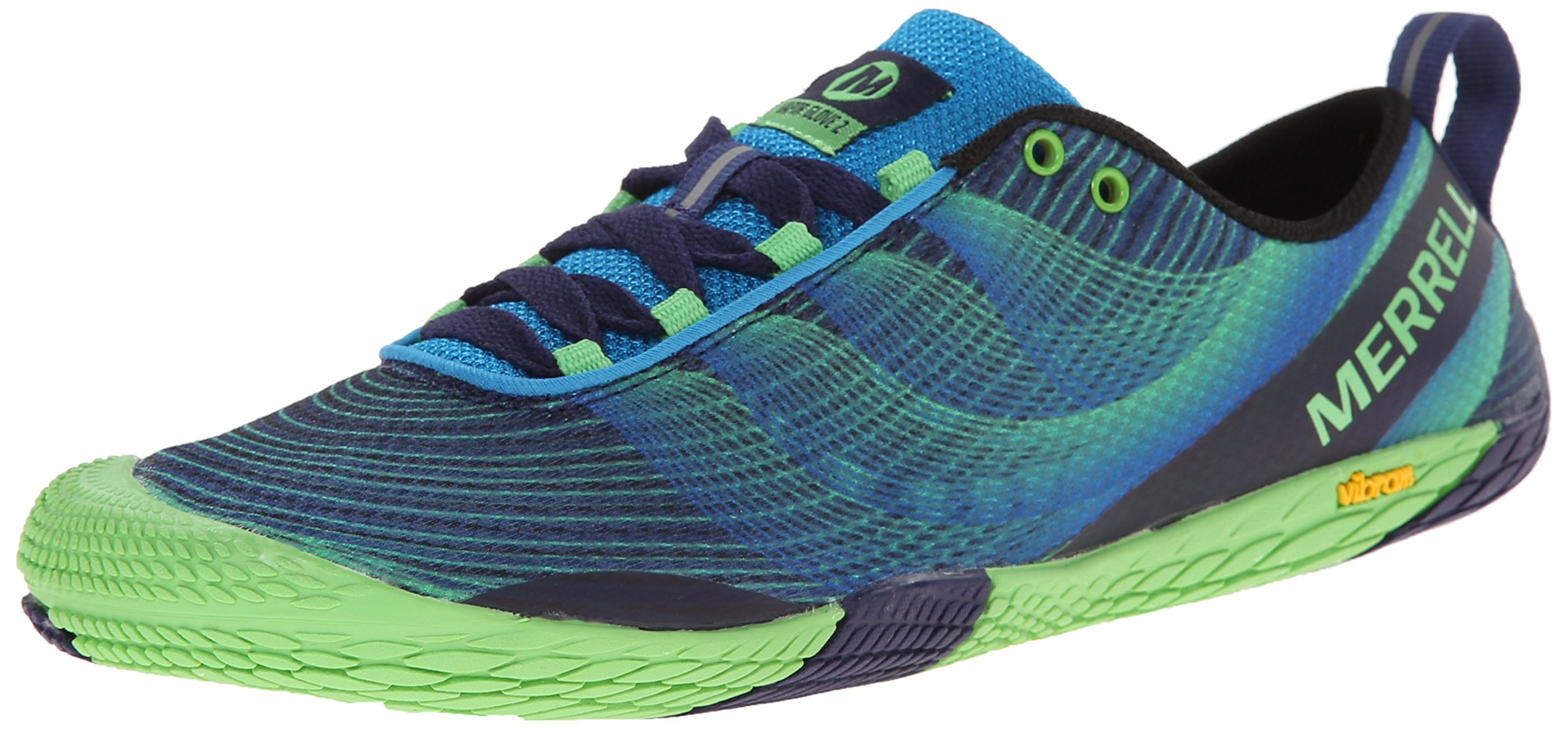 Merrell Men's Vapor Glove 2 Trail Running Shoe, Racer Blue/Bright Green, 8.5 M US by Merrell