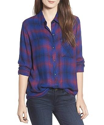 24ac69e1543a7 Amazon.com  Rails Women s Hunter Plaid Button-Front Shirt