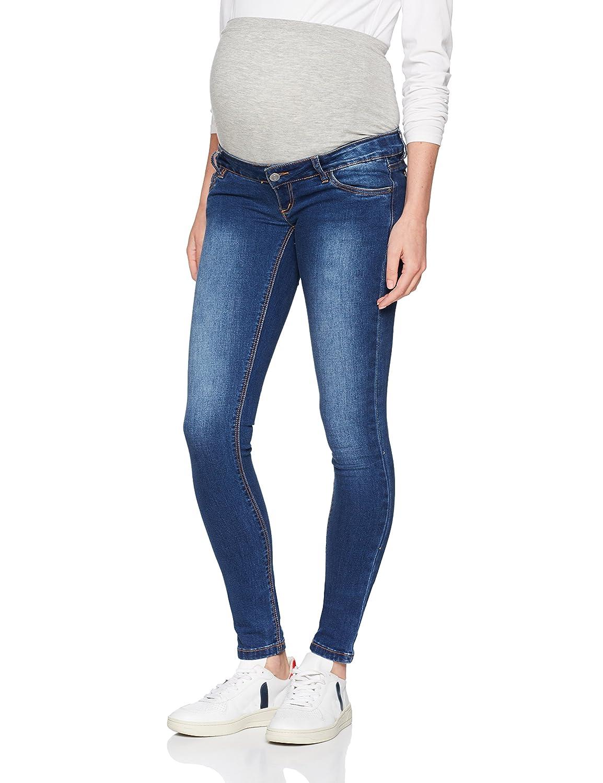 MAMALICIOUS Damen Umstandshose MLLOLA Slim Blue Jeans NOOS B, Blau Denim, W28/L32 (Herstellergröße:28) 20008771