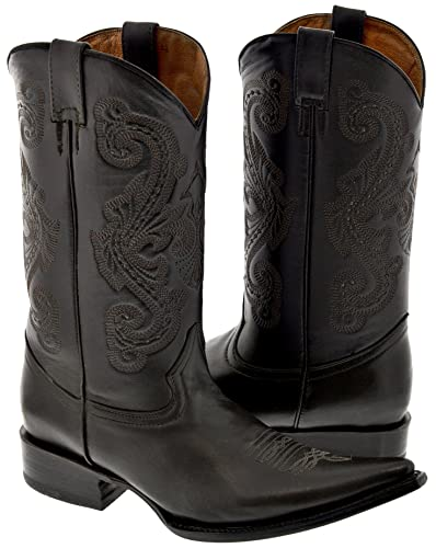 8b40926cc7f Texas Legacy - Men s Dark Brown Classic Full Leather Western Cowboy Boots  3X Toe 6.5 D