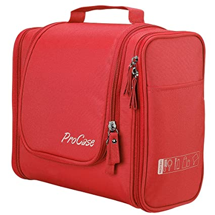 982a908be750 Amazon.com  ProCase Toiletry Bag with Hanging Hook