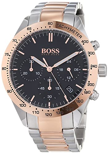 4048ce98d09 Hugo BOSS Unisex-Adult Chronograph Quartz Watch with Stainless Steel Strap  1513584  Amazon.co.uk  Watches