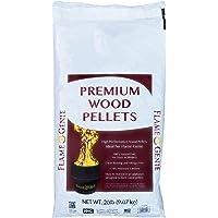 Flame Genie FG-P20 Premium Wood Pellets for Fire Pits, 20 Pound Pack, Black