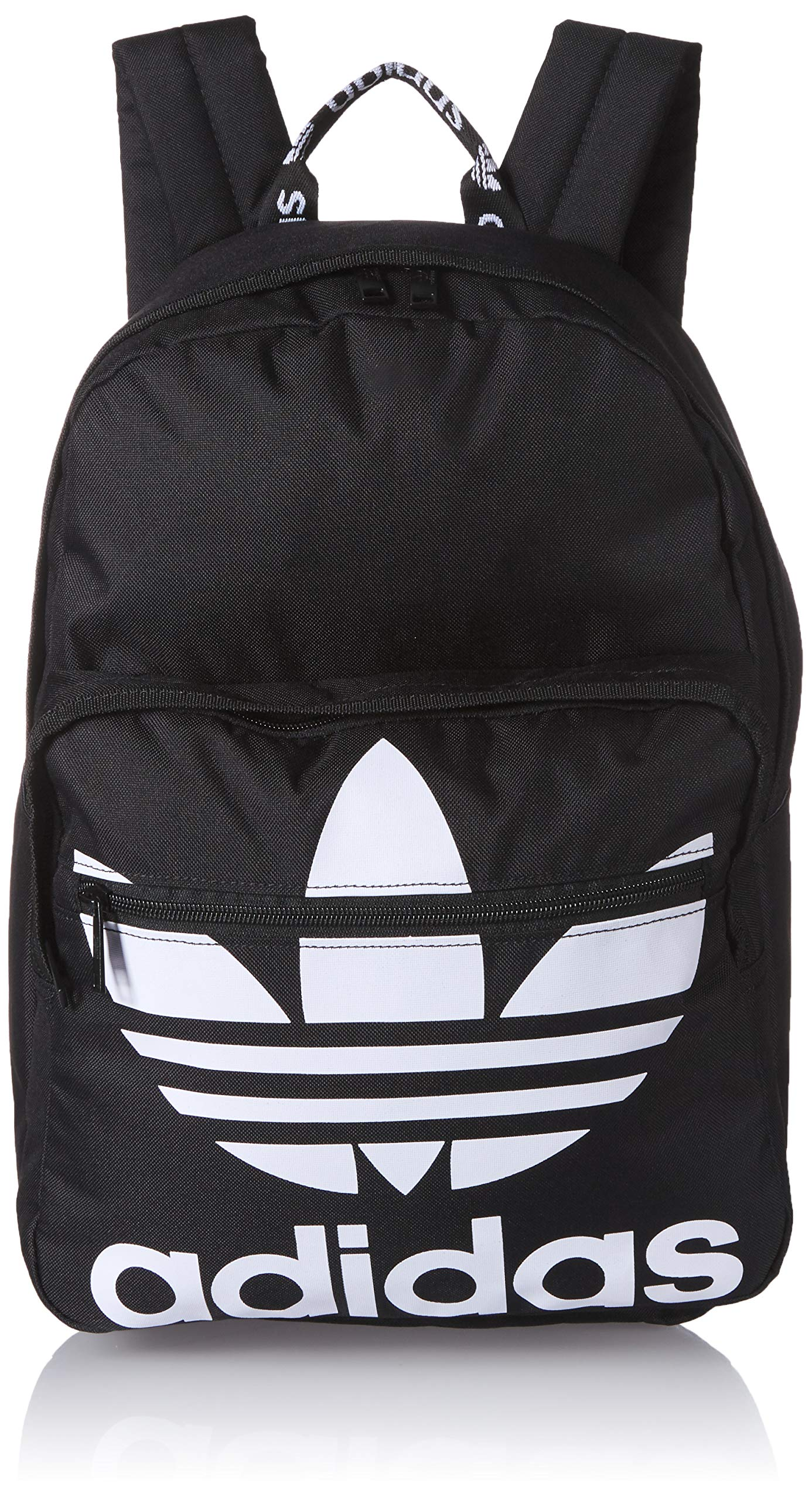adidas Originals Unisex Trefoil Pocket Backpack, Black/White, ONE SIZE by adidas Originals