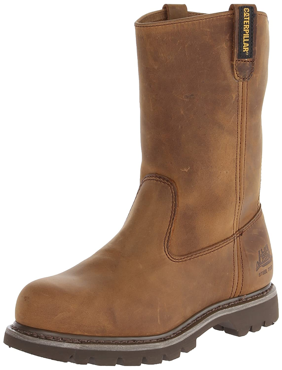 Caterpillar Women's Revolver Steel Toe Work Boot B00I85DZ24 6 C/D US|Dark Beige