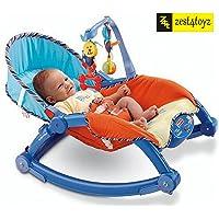 Zest 4 Toyz Newborn-to-Toddler Portable Rocker Bouncer Chair Easy to Take Along (Blue)