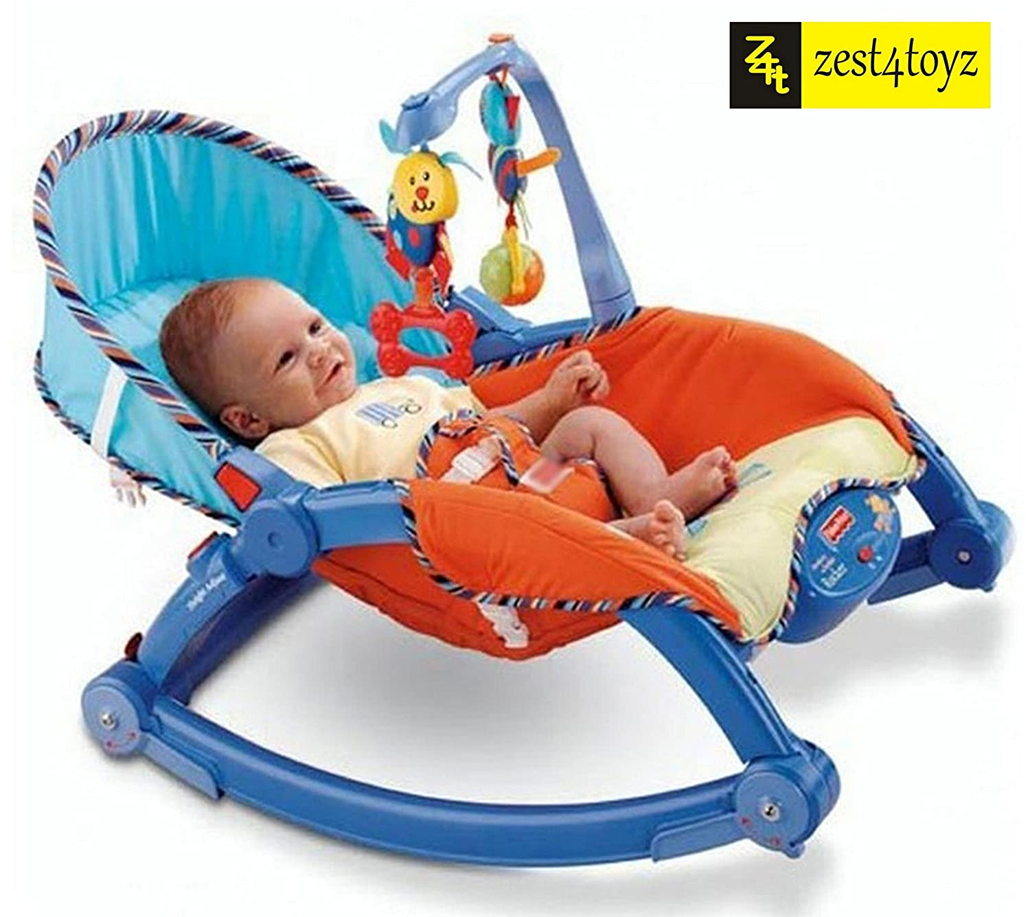 Buy Zest 4 Toyz Newborn-to-Toddler Portable Rocker Bouncer Chair Easy to Take Along (Blue) Online at Low Prices in India - Amazon.in  sc 1 st  Amazon.in & Buy Zest 4 Toyz Newborn-to-Toddler Portable Rocker Bouncer Chair ...