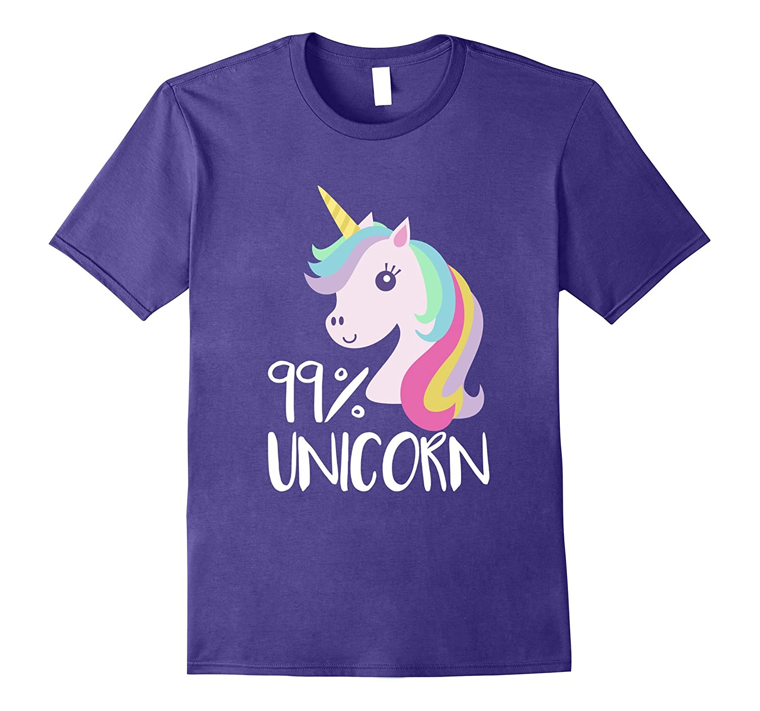 99% Unicorn | Funny Unicorn T-Shirt | Unicorn Lover Gifts-T-Shirt