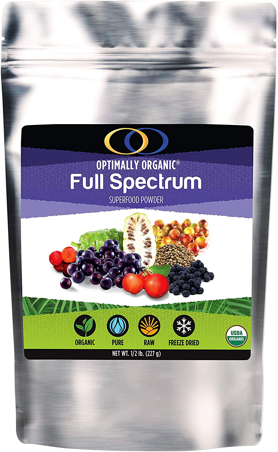 Amazon Com Full Spectrum Daily Superfood Powder The Ultimate Raw Organic Whole Food Vegan Multi Vitamin Protein Superfood Acai Acerola Cherry Maqui Berry