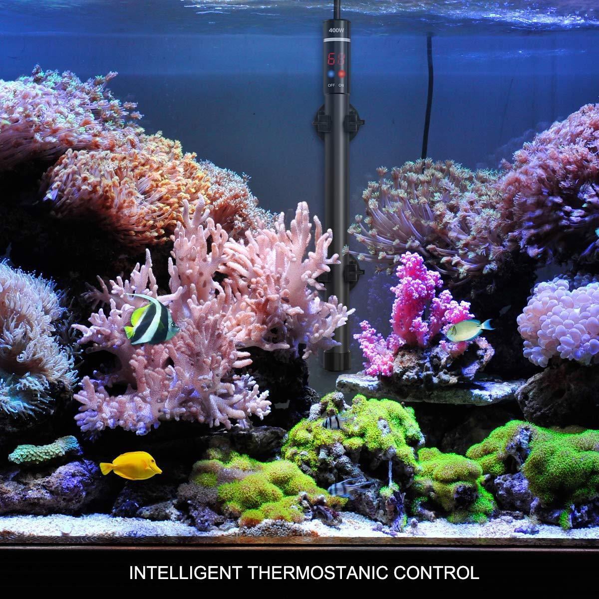 UEETEK Aquarium Heater 400W, Submersible Titanium Fish Tank Heaters Thermostat with Intelligent LED Temperature Display by UEETEK (Image #7)