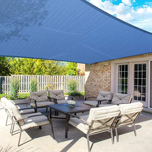 MOVTOTOP - Parasol Rectangular de 10 x 13 pies, 185 g/m² de Grosor ...