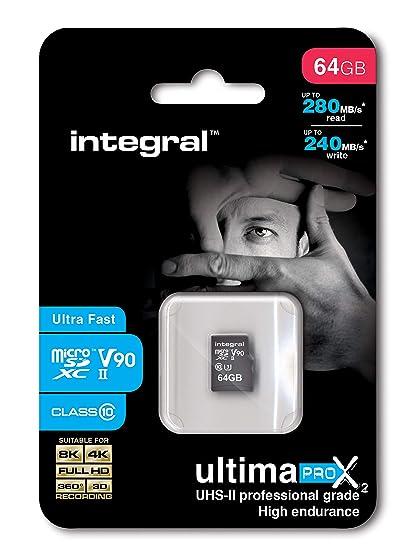 Integral UltimaPro X2 UHS-II microSDXC Tarjeta de Memoria 64 ...