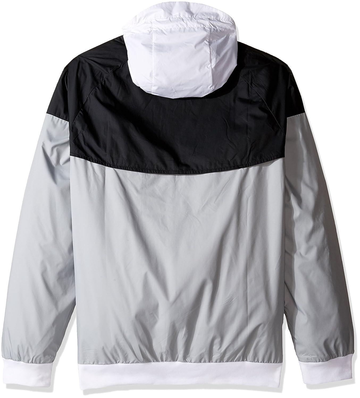 Nike jacket grey and white - Nike Mens Windrunner Hooded Track Jacket At Amazon Men S Clothing Store