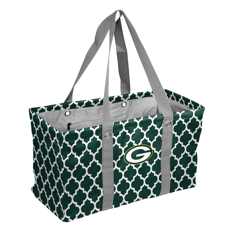 [トートバッグ]Logo Brands NFL Green Bay Packers Quatrefoil Picnic Caddy quatrefoil Picnic Caddy Hunter One Size[並行輸入品]   B06VT855TT