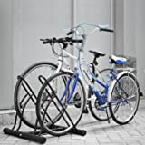 Femor Floor Mount Bicycle Rack for 2 Bikes Stand Double Bicycle Holder Storage Rack Garage Outdoors