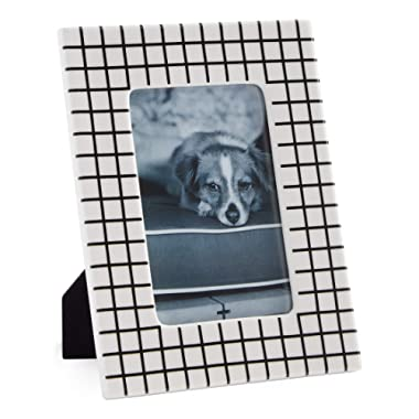 Now House by Jonathan Adler Grid Frame, 4  x 6 , Black and White