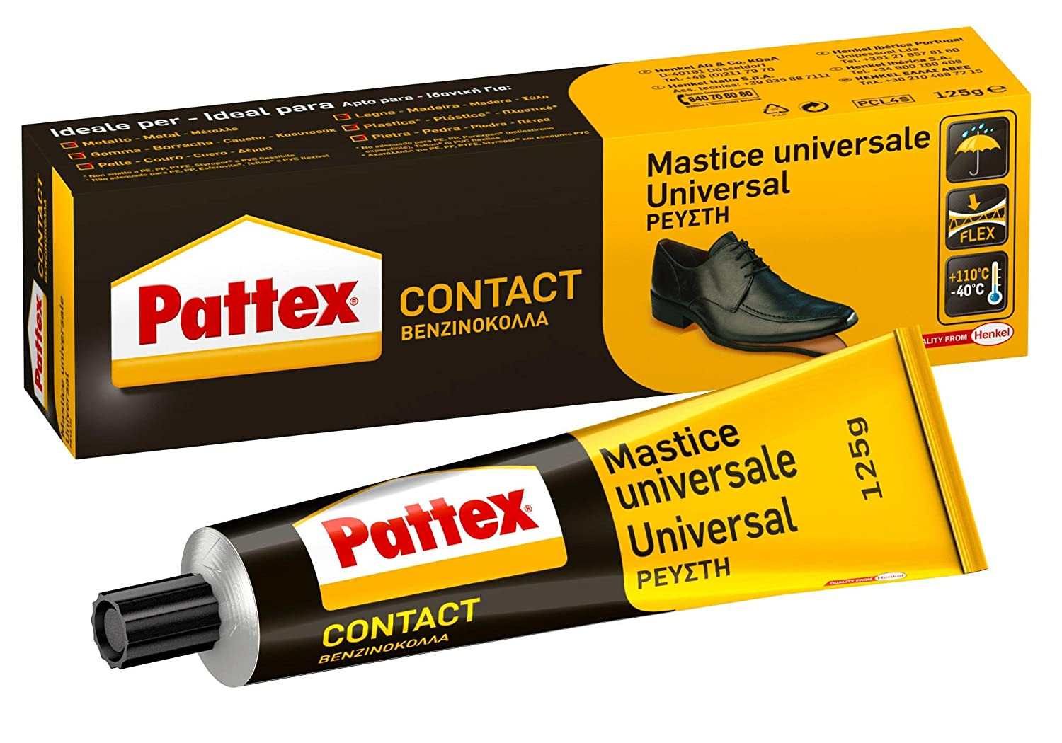 Pattex 1419317 - Colla contatto (dispenser 125 g) Henkel
