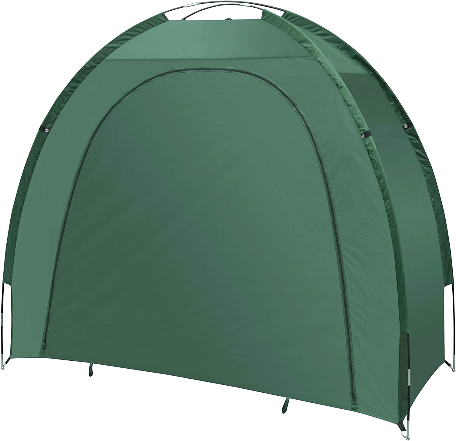 ALEKO BS70GR Portable Pop Up Bike Tent Bicycle Storage Shed Weather Resistant Protection Outdoor with Carrying Case 82 X 70 X 34 Inches Green