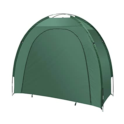 buy online 84d00 24f04 ALEKO BS70GR Portable Pop Up Bike Tent Bicycle Storage Shed Weather  Resistant Protection Outdoor with Carrying Case 82 X 70 X 34 Inches Green