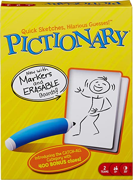 QUICK DRAWING FAMILY FUN PARTY 50  PICTIONARY BOARD GAME CARDS