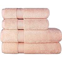 Juego de toallas de lujo (4 piezas) – 2 toallas de ducha de 70 x 140 cm y 2 toallas de mano de 50 x 100 cm, 100% algodón…