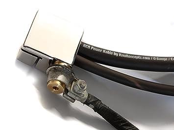knukonceptz Ultimate Par de terminal de batería positivos y negativos con OEM adaptador de Post superior