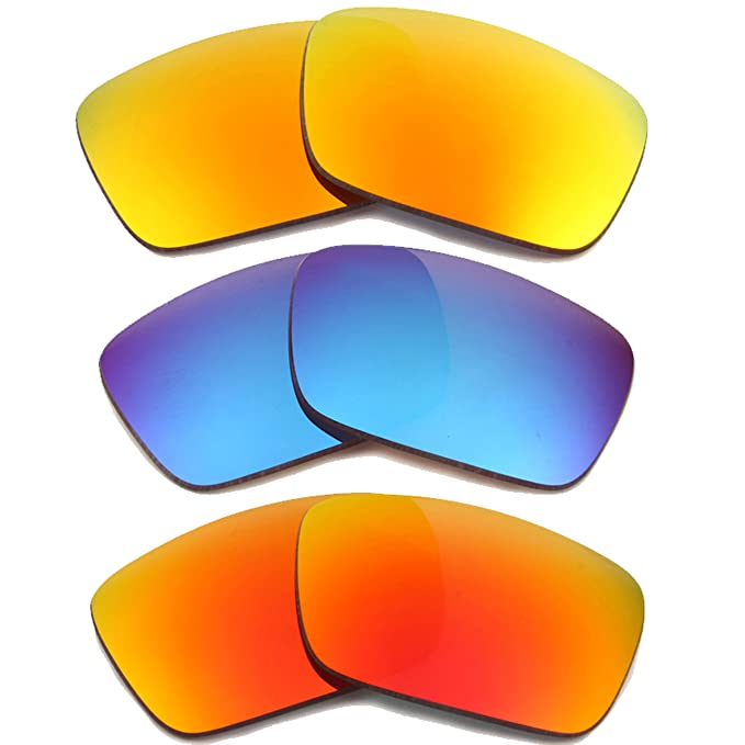 6e3b74bd5ee Image Unavailable. Image not available for. Color  FUEL CELL Replacement  Lenses Polarized Yellow Red Blue by SEEK fits OAKLEY