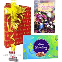 Sorry Greeting Card & Cadbury Chocolates Gift Box Combo with Personalized Sorry Message & Free Gift Wrapping-I Am Sorry for All That Happened Between Both of us