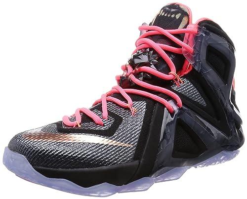 new product 6814b e9ab6 Nike Men s Lebron XII Elite, ROSE GOLD-BLACK MTLC RED BRONZE-WHITE-HT LAVA,  8.5 M US  Amazon.ca  Shoes   Handbags