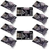 Elegoo 10pcs Arduino用 NRF24L01+ 2.4GHzワイヤレストランシーバー