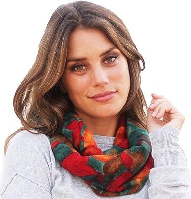 BRANDELIA Bufanda Invierno Mujer con Estampado Floral Sin Lana ...
