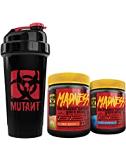 Mutant Madness Power Punch Bundle - Pre-Workout Powders Engineered Exclusively for High-Intensity Workouts With Speciality Shaker Cup, Blue Raspberry and Sweet Iced Tea (225 g)