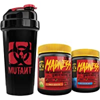 Mutant Madness Power-Punch Bundle — Pre-Workout Powders Engineered Exclusively for High-Intensity Workouts With Speciality Shaker Cup — Madness Bundle with Blue Raspberry, Sweet Iced Tea (225 g) and Mutant Nation Shaker Cup