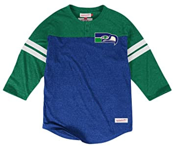 promo code d426c efdce Amazon.com : Mitchell & Ness Seattle Seahawks NFL Starting 3 ...