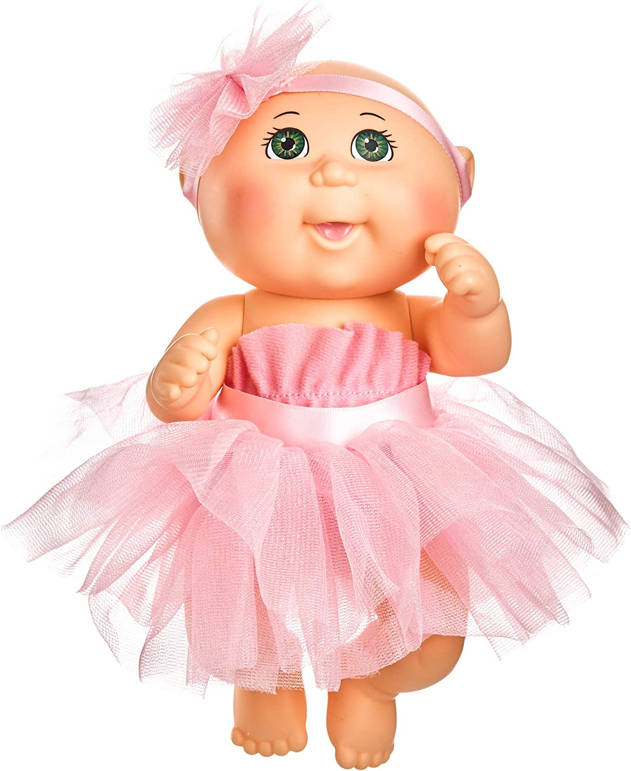 Cabbage Patch Kids 9 Inch Dance Time Girl, Green Eyes, Pink Tutu