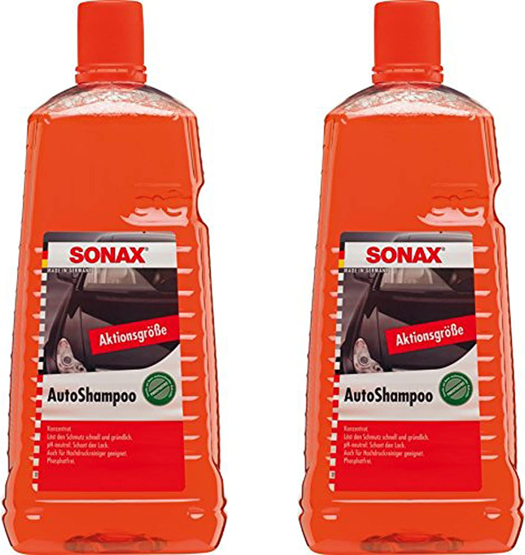 2x 2l Liter Sonax Autoshampoo Konzentrat Auto Glanz Shampoo Lack Pflege Reiniger Auto