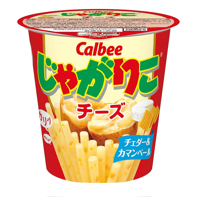 Calbee Jagariko Potato Chips Cheese Flavor 58g × 12 Japan
