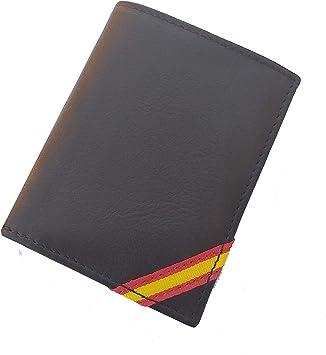 Tiendas LGP - Cartera Billetero Monedero, Bandera de España, Caballero -Piel Autentica de Vacuno, Color Negro, Ubrique: Amazon.es: Equipaje