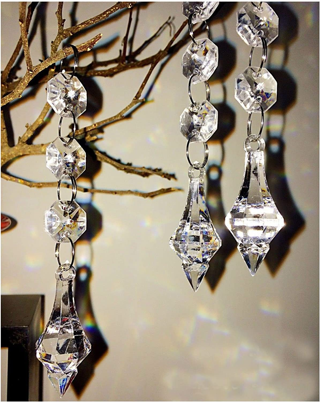 12 Acrylic Crystal Bead Chandelier Garland Hanging Wedding Curtain Party Decor