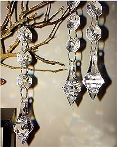 Hot 30PCS Acrylic Crystal Beads Garland Chandelier Hanging Wedding Party Celebration Decor (Style 7)