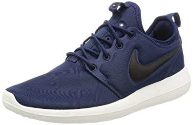 NIKE Men's Roshe Two Midnight Navy/Black/Sail/Volt Running Shoe 7.5 Men