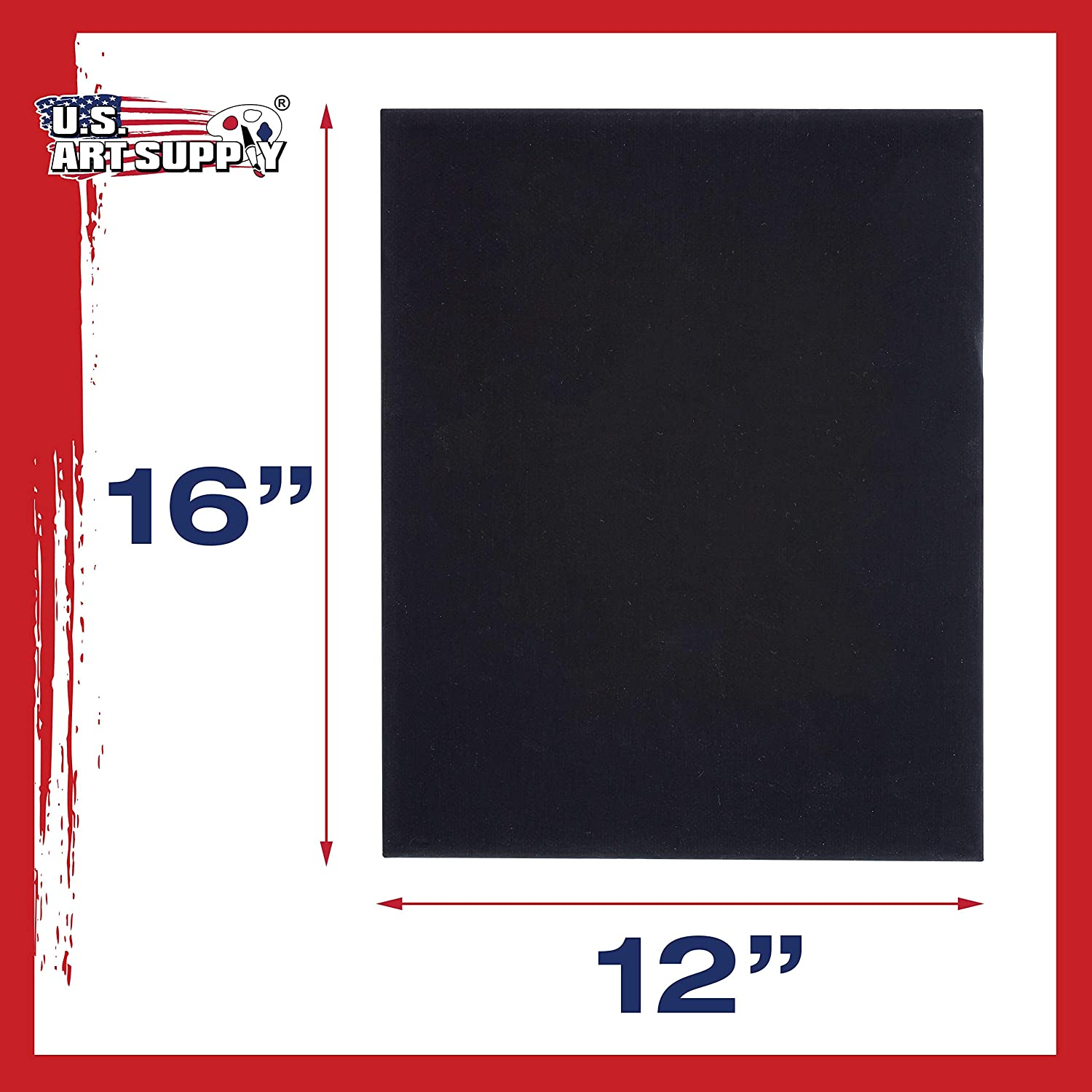 12//Pack x 16 in Professional Artist Cotton Canvas Panel Board 12 in