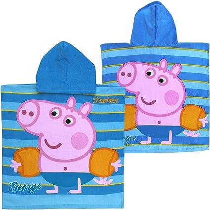 George Peppa Pig – Traje de baño niños, personalizable Super algodón suave Poncho con capucha