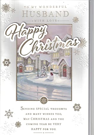 Christmas Card Verses.Prelude Husband Christmas Card To My Wonderful Husband At Christmas Traditional Christmas Tree Extra Large Card 8 Pages Of Verses