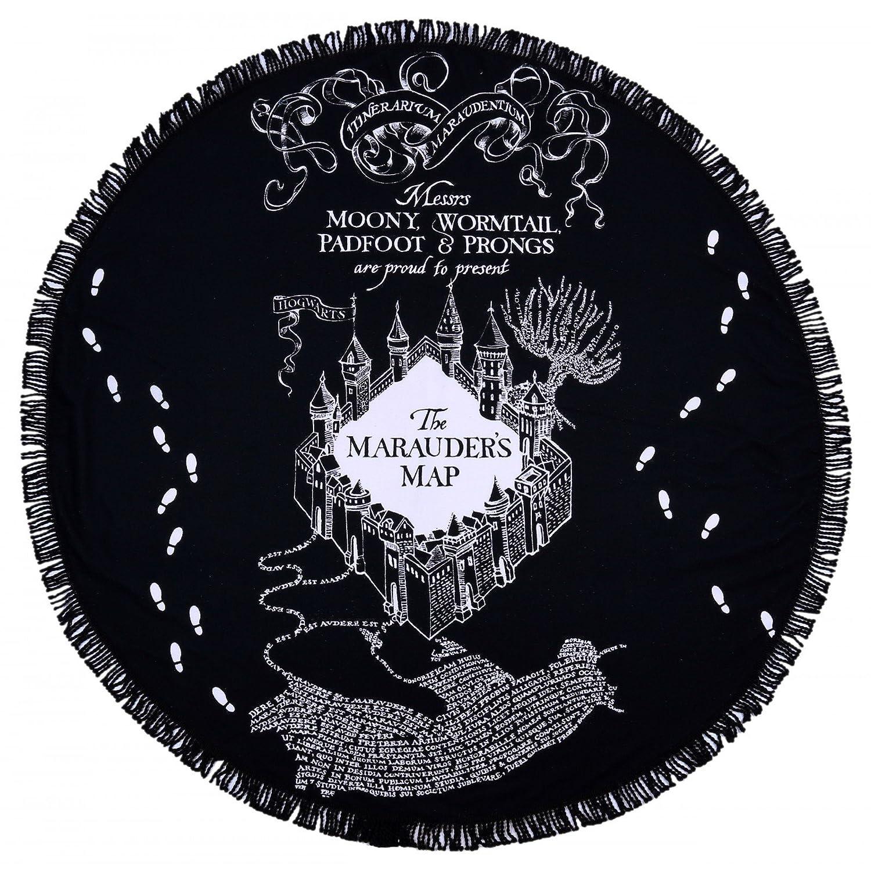 Warner Brothers Harry Potter rotondo da spiaggia, la mappa del Malandrino design nero
