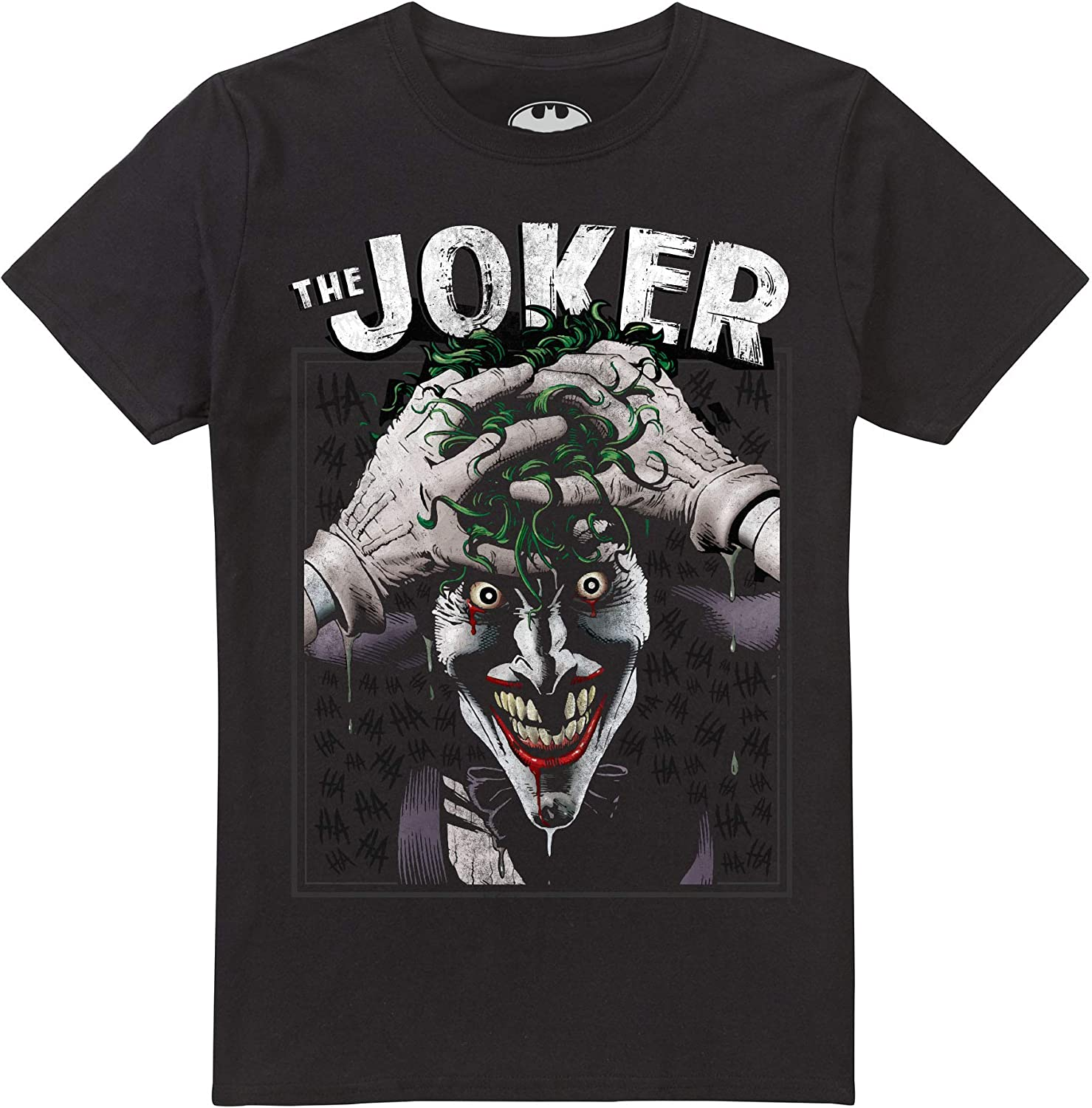 DC Comics Crazed Joker Camiseta para Hombre