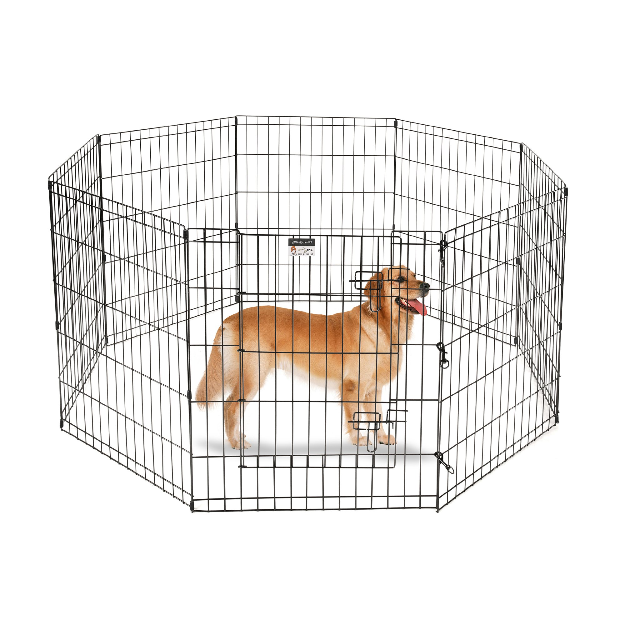 Pet Trex 30'' Playpen for Dogs Eight 24'' Wide  x 30'' High Panels by Pet Trex