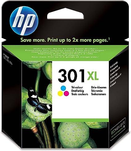 Oferta amazon: HP 301XL CH564EE, Tricolor, Cartucho de Tinta de Capacidad Original, Compatible con impresoras de inyección de tinta HP DeskJet 1050, 2540, 3050; OfficeJet 2620, 4630; ENVY 4500, 5530