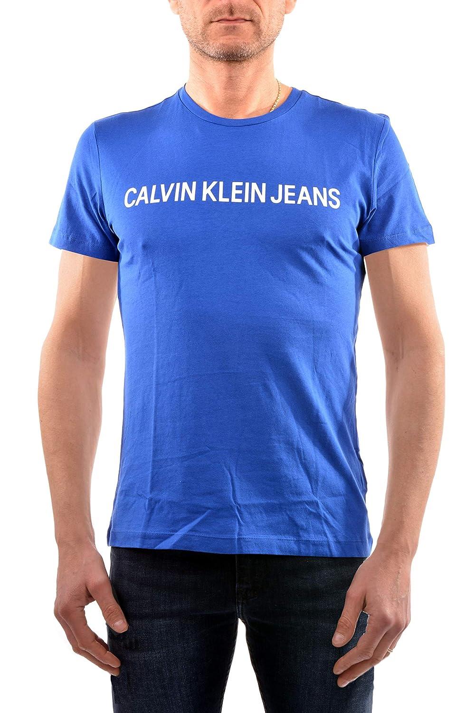 TALLA M. Camiseta CalvinKlein Jeans Hombre Institut Negro