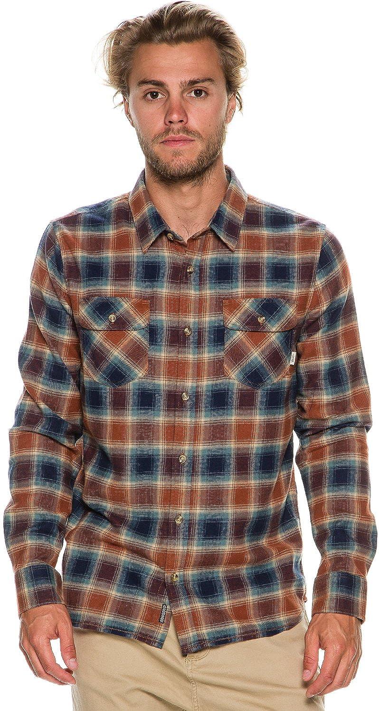 vans men u0027s banfield plaid flannel long sleeve shirt at amazon